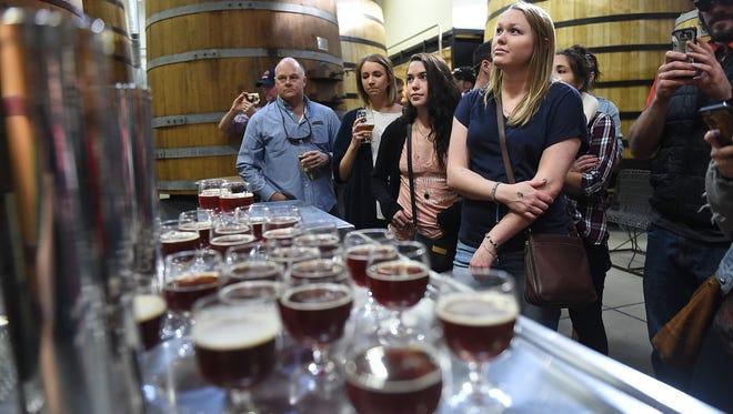 A tour going through New Belgium Brewing Co.