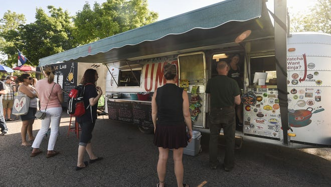 Umami Food Truck Tuesday, June 2, 2015 in City Park in Fort Collins, CO.