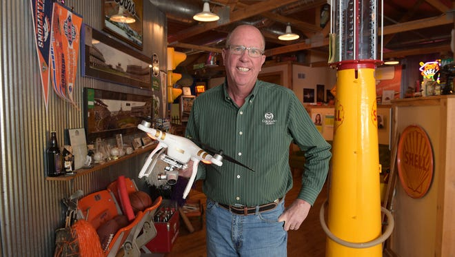 Fort Collins photographer Tim O'Hara has been in business 35 years. He has kept up with new technology over the years, and recently has been doing drone photography.