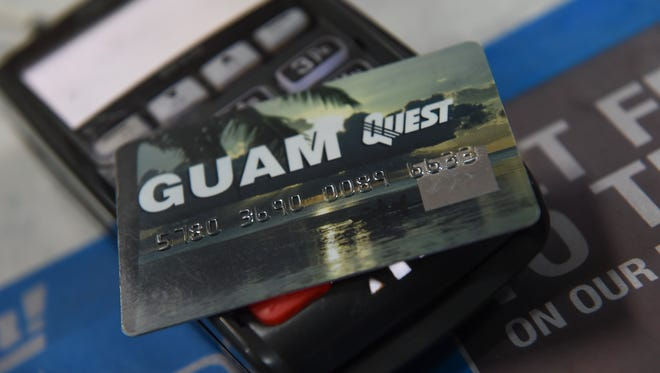 A Guam Quest card shown in this file photo.