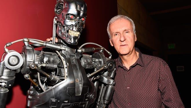 """Director James Cameron attends the American Cinematheque 30th Anniversary Screening Of """"The Terminator"""" Q+A at the Egyptian Theatre in Hollywood, California."""