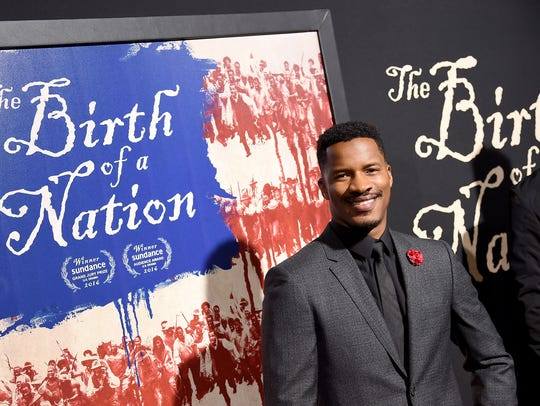 Nate Parker attends the Los Angeles premiere of 'The