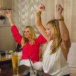 Tamra Barney and Vicki Gunvalson in a scene from Season 9 of 'The Real Housewives of Orange County,' which premieres on Bravo at 9 p.m. ET/PT on April 14.