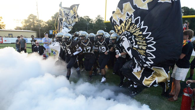 Wetumpka takes the field against Thompson in Wetumpka, Ala. on Friday August 22, 2014