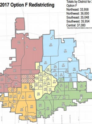Two voting precincts would move to new City Council districts under a proposal by the Sioux Falls Redistricting Commission.
