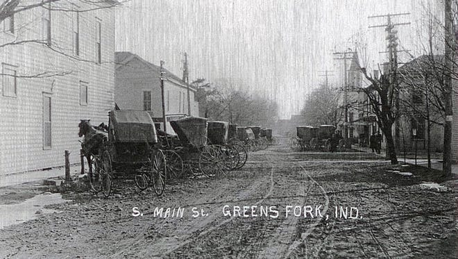South Main Street in early Greens Fork, Ind., which celebrated its 197th birthday on Sept. 28, 2015.