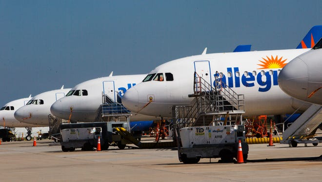 March brought scores of Allegiant Air jetliners to Punta Gorda Airport.