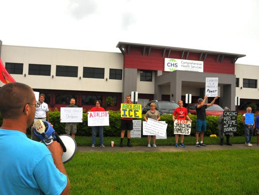 Comprehensive Health Services protest