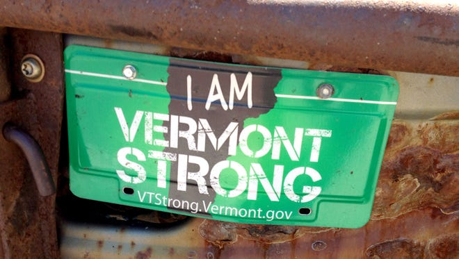 Vermont Strong license plates were introduced after Tropical Storm Irene struck the state in August 2011.