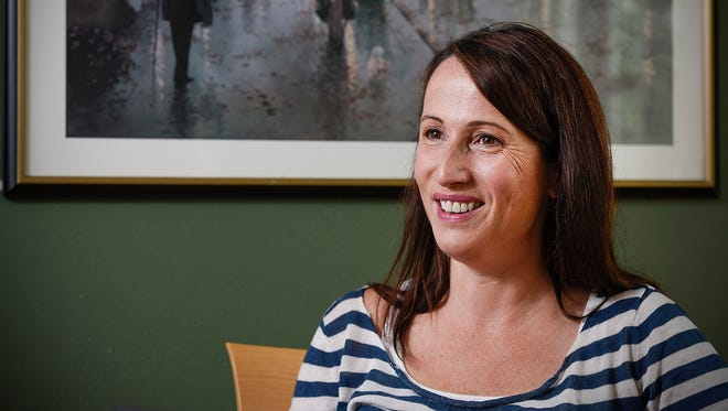 Jessica Lourey talks Tuesday, May 30, about her upcoming TEDx talk while sitting at her home in St. Cloud.