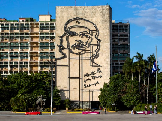 """This iconic image of Cuba's revolutionary hero Ernesto """"Che"""" Guevara, at Revolution Square near the Ministry of Interior in Havana, Cuba. Some Americans may rush to see Cuba in 2017."""