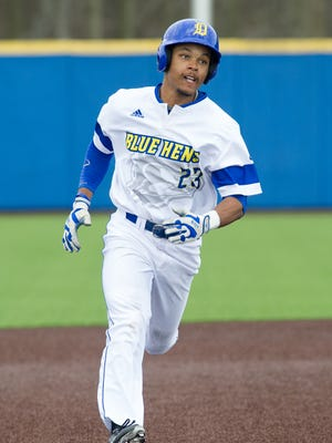 Delaware baseball's Jordan Glover recorded four RBIs, including a home run as the Blue Hes topped James Madison on  Saturday.