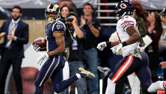Rams rookie WR Tavon Austin has scored four TDs in his last two games.