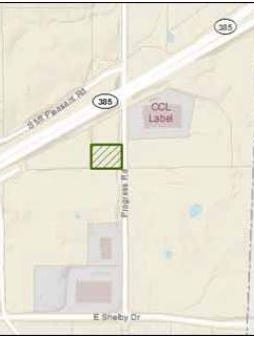 This map shows the proposed site of the new ChemStation facility by Tenn. 385 in Collierville.