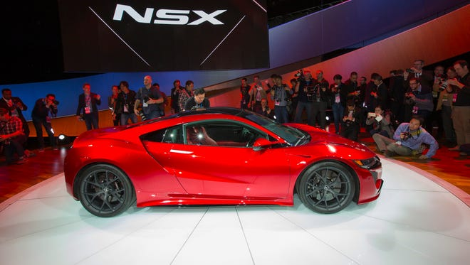 The next-generation Acura NSX supercar at the 2015 North American International Auto Show in Detroit, MI on Jan., 12, 2015.
