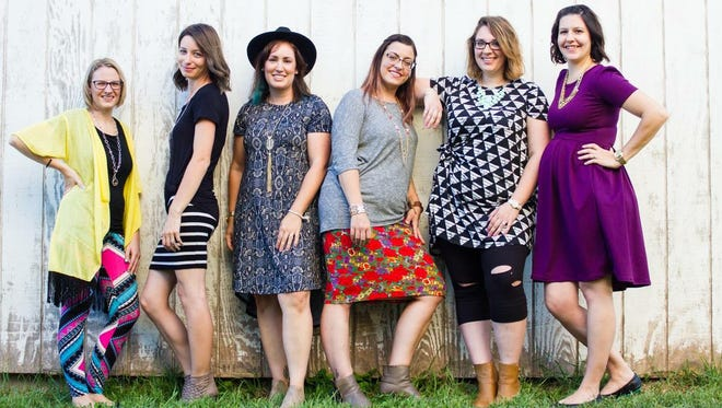 Local LuLaRoe consultants are organizing a fundraiser to help local teachers. Pictured, from left, are: Jamie Sterner, Jessica Ross, Janelle Jones, Kristina Perez, Casey Forrest and Stevie Hoff.