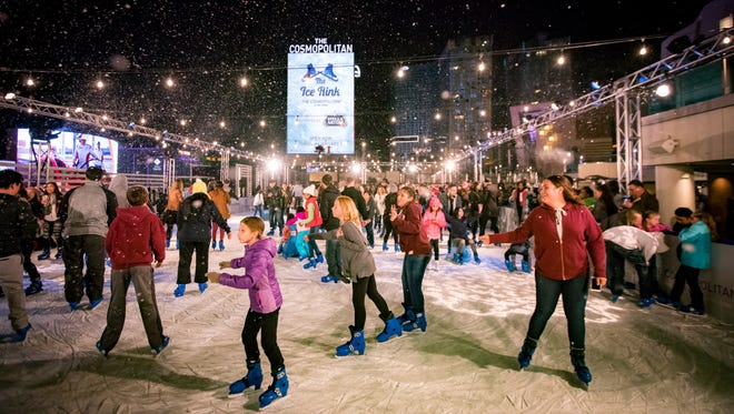 The Cosmopolitan of Las Vegas hosts The Ice Rink over its Boulevard Pool for the fifth year, through January 1.