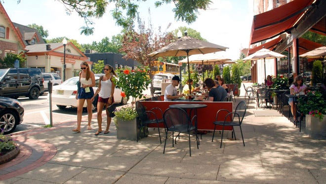 Downtown Ridgewood, where the shops are, is walkable – with a quaint green town square.