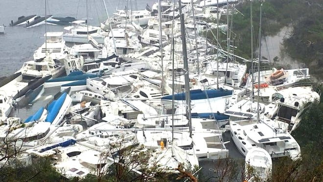 Damage to boats of every type and size could be seen in the Florida Keys after Hurricane Irma made landfall. Figures show that over 50,000 vessels totaling approximately $500 million in losses occurred.