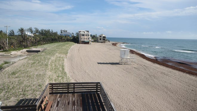The new and improved Bathtub Reef Beach is seen in this beach cam photo taken at 9 a.m. on Monday, May 15, 2018.