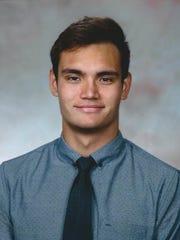 Benjamin Schulte in his Bryant University roster photo