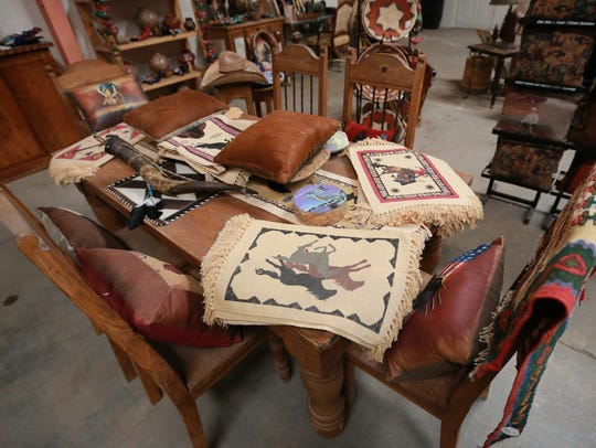 Southwestern-style furniture made by a craftsman in