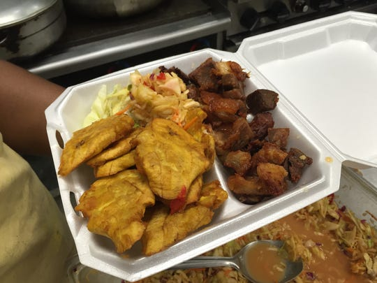 Griot, deep-fried hunks of pork, is a Haitian specialty available at Labadie in Fort Myers.