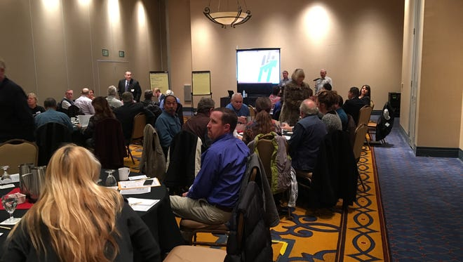 About 75 people showed up for the third in a series of development planning sessions at the Inn of the Mountain Gods Monday.