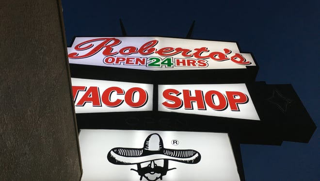 Roberto's Taco Shop is open 24/7. It's just south of the University of Nevada.