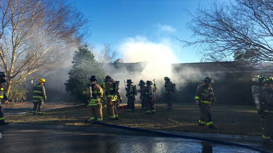 Firefighters respond to a house fire in the 1700 block