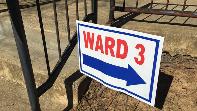 Ward 3 at the Gypsy Hill Park gym for the presidential primaries.
