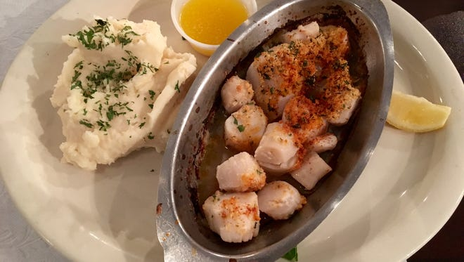 Broiled scallops from The Clam Shack on Sanibel.