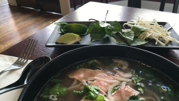 The spread from Snapdragon Pho in Staunton.