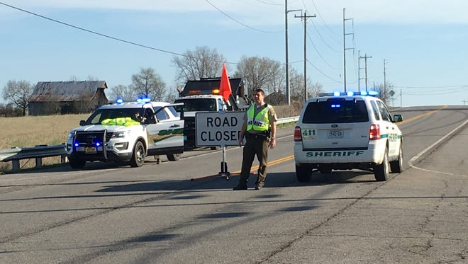 Highway 31 is closed at Deshea Creek Road near Bethpage following a police chase that sent at least one person to Vanderbilt University Medical Center.
