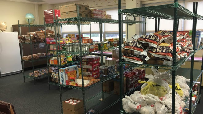 Southside High School's expanded Panther Pantry is shown in this file photo from 2016.