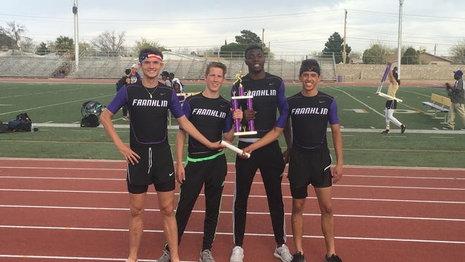 The Franklin 4x400 relay team is one of the tops in the city. The team consists of Cody Johnson, Andrew James, E.J. Ikeakor and Gabe Navarro.