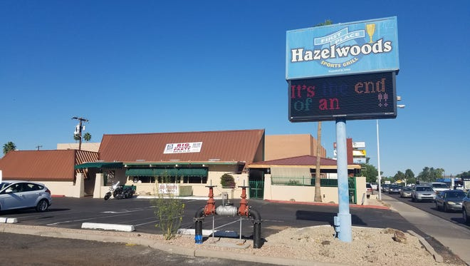 Hazelwoods First Place Sports Grill in Phoenix closes on May 22.