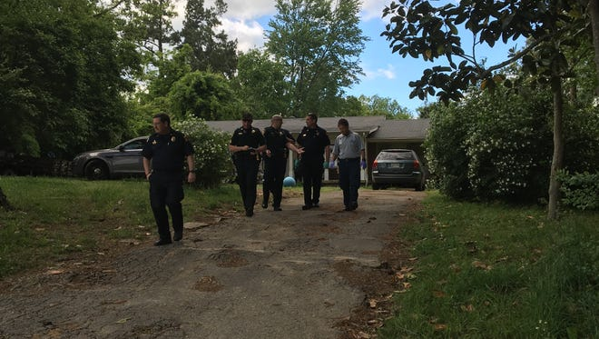 Madison County Sheriff's Office deputies and other first responders went to a home on Oak Grove Road after a man was bitten by a dog this afternoon.