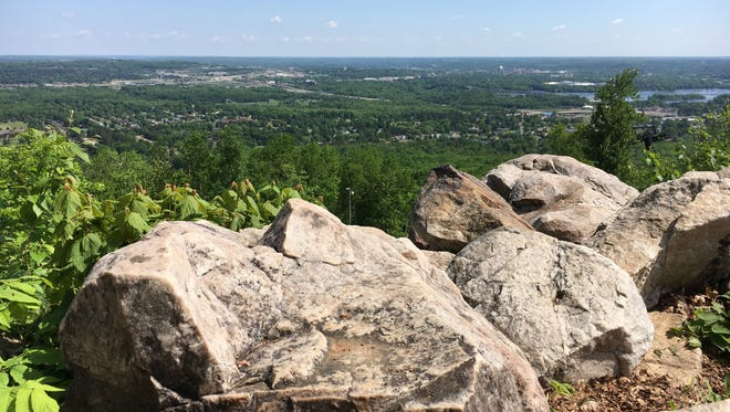 Rib Mountain State Park overlooks Wausau and other nearby communities.