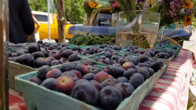 Blueberries from Flying Cloud Farm at River Arts District Farmers Market.
