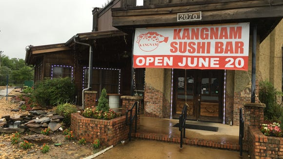 The former Sushi Yama is now Kangnam Sushi Bar.