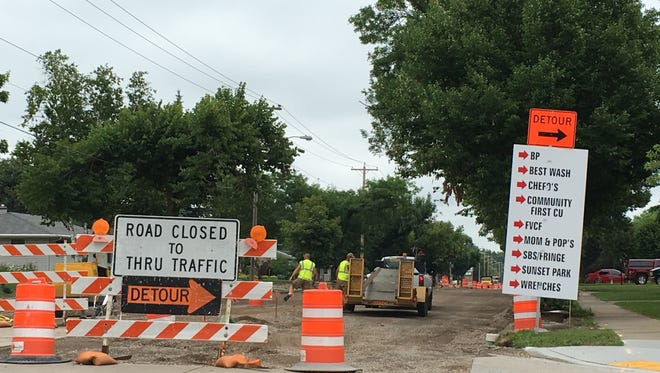 Kimberly businesses have to weather redo of Kimberly Avenue.