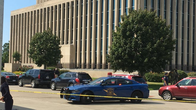 Two bailiffs and the shooter are dead in Berrien County Courthouse shooting, Monday, July 11, 2016.