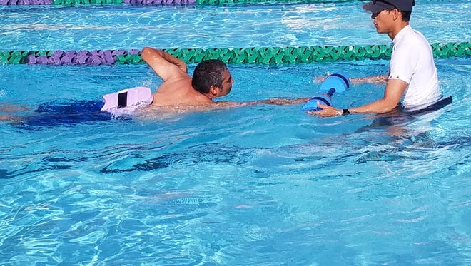 I finally took the plunge and I'm learning how to swim as I'm on the cusp of turning 50.
