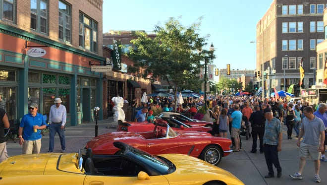 A 2016 view of Hot Summer Nites in downtown Sioux Falls.