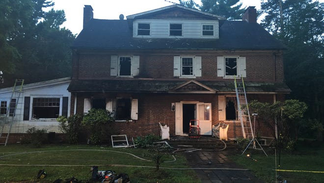 A fire destroyed the kitchen and caused smoke and water damage in other parts of the historic Rowan estate owned by Burlington County in parkland in  Westampton.