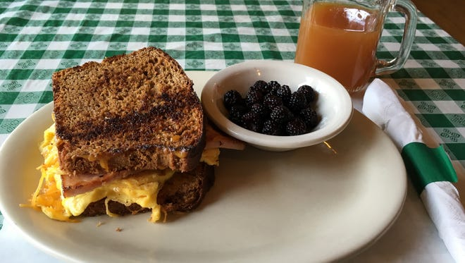 Farm to table food from the Whispering Orchards Café.
