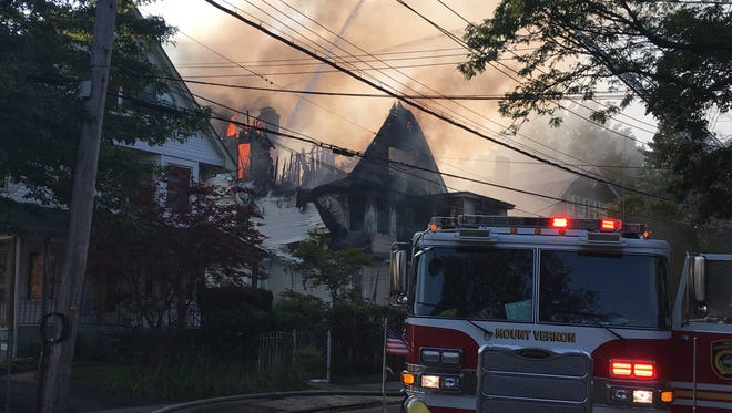 Mount Vernon firefighters wrestled with a fire Wednesday evening for about three hours.