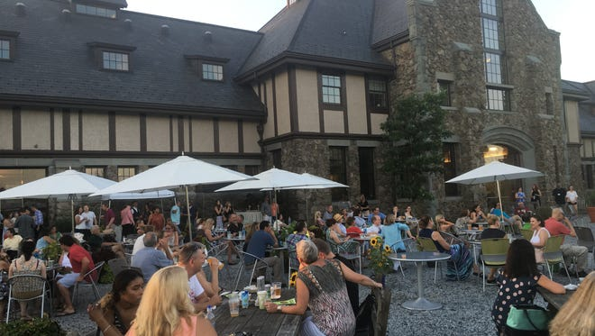 Nearly 200 attendees enjoyed a diverse menu and live music on the patio of the Farm Barn Café during Duke Farms' Farm-to-Fork Tasting on July 27th.