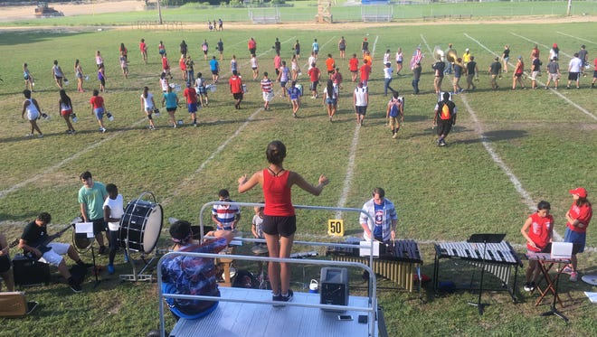 After 80 hours of practice in eight days, the Marching Thunderbolts say they're prepared to take the field.
